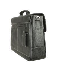 Tavecchi - Europa Black Double Gusset Calf Leather Briefcase for Men - Lyst