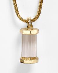 Rachel Zoe - Metallic Faceted Pave Pendant Necklace 31 - Lyst