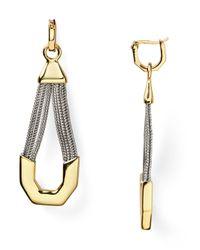 Rachel Zoe - Metallic Signature Link Twotone Earrings - Lyst