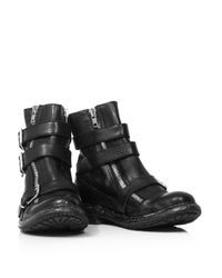 Burberry Prorsum | Black Hertford Triple Buckle Ankle Boots | Lyst