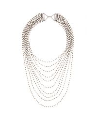 Iam By Ileana Makri | Metallic Multi-Strand Crystal Necklace | Lyst