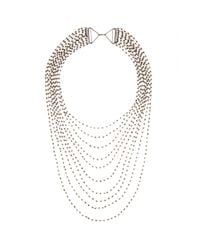 Iam By Ileana Makri - Metallic Multi-Strand Crystal Necklace - Lyst