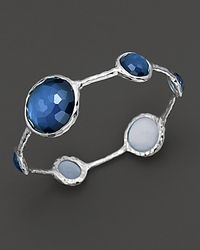 Ippolita | Blue Sterling Silver Wonderland Lollipop Bangle In Indigo | Lyst