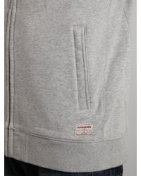 Quiksilver - Gray Full Zip Logo Hoody for Men - Lyst
