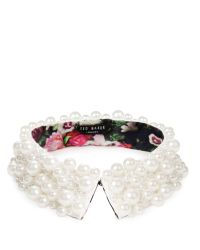 Ted Baker | White Tacall Pearl Collar | Lyst