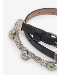Alexander McQueen | Black Double Wrap Chain Bracelet | Lyst
