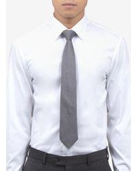 Armani - Multicolor Triangle Jacquard Silk Tie for Men - Lyst