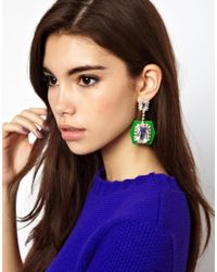 ASOS - Multicolor Perspex Drop Earrings - Lyst
