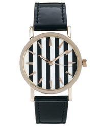 ASOS - Black Stripe Face Watch - Lyst