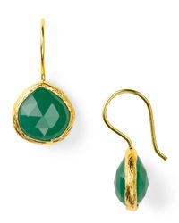 Coralia Leets | Green Mini French Wire Earrings | Lyst