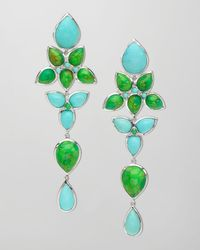 Elizabeth Showers | Mariposa Long Chandelier Earrings Bluegreen | Lyst