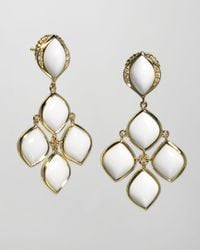 Elizabeth Showers | Metallic Simone 18k Gold Agate Chandelier Earrings | Lyst