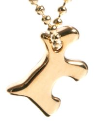 French Connection - Metallic Dog Charm Pendant - Lyst