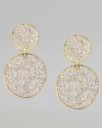 Ippolita | Metallic Stardust 18k Gold Diamond Clip Snowman Earrings | Lyst