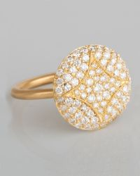 Jamie Wolf | Metallic Aladdin 18k Pave Diamond Disc Ring | Lyst