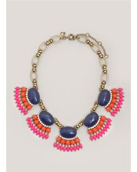 J.Crew | Multicolor Fan Fringe Necklace | Lyst