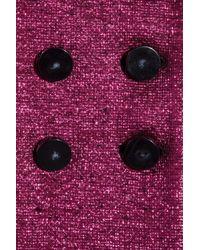 Marc Jacobs   Purple Metallic Bouclé Wool Blend Jacket   Lyst