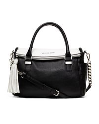 MICHAEL Michael Kors - Black Medium Weston Twotone Satchel - Lyst