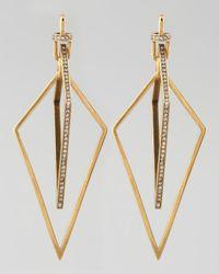 Paige Novick | Metallic Diamond-shaped Pave Crystal Earrings | Lyst