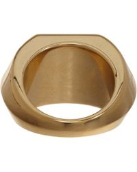 Saint Laurent - Metallic Howlite Onyx Ring - Lyst