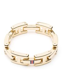 Tommy Hilfiger | Metallic Hilfiger Bracelet | Lyst