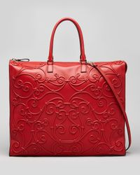Valentino | Intricate Soutache Tote Bag Red | Lyst