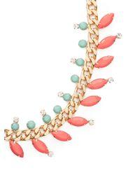 BaubleBar - Pink Coral Marquise Laurel Collar - Lyst