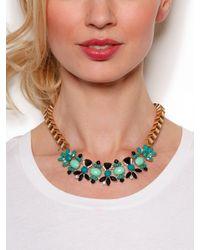 BaubleBar - Green Teal Ariel Wreath Necklace - Lyst