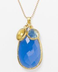 Coralia Leets - Deep Blue Chalcedony Mykonos Jumbo Pendant Necklace 22 - Lyst