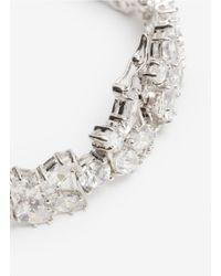 CZ by Kenneth Jay Lane - White Oval-cut Crystal Bracelet - Lyst
