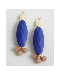 David Aubrey - Blue Resin and Pink Jade Drop Earrings - Lyst