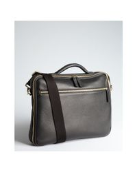 Giorgio Armani - Black Textured Deerskin Softsided Briefcase for Men - Lyst