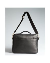 Giorgio Armani - Black Textured Deerskin Softsided Briefcase for Men - Lyst