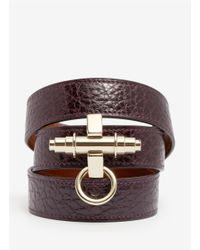 Givenchy | Purple Obsedia Wrapped Leather Bracelet | Lyst