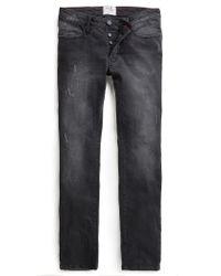 Mango - Slim-fit Black Tim Jeans for Men - Lyst