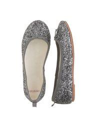 13df78613 J.Crew Girls Classic Glitter Ballet Flats in Gray - Lyst