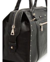 Mango - Black Studded Tote Bag - Lyst