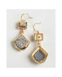 Marcia Moran - Metallic Gold Plate Druzy Drop Earrings - Lyst
