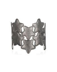 Tuleste | Gray Gunmetal Stars Open Cuff | Lyst