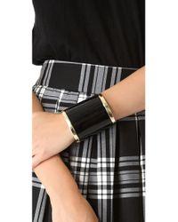 Adia Kibur - Black Thick Cuff Bracelet - Lyst
