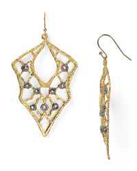 Alexis Bittar - Metallic Jardin De Papillon Lace Wire Earrings - Lyst