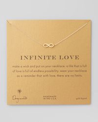 Dogeared   Metallic Infinite Love Gold-dipped Infinity Necklace   Lyst