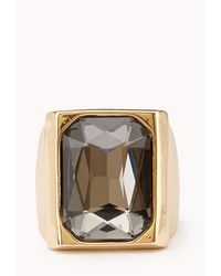Forever 21 - Gray Cocktail Hour Faux Gemstone Ring - Lyst
