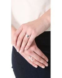 Jennifer Zeuner - Metallic Cigar Band Heart Ring - Lyst