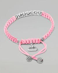 Lagos - Pink Kinder Sterling-Silver Macrame Bracelet - Lyst