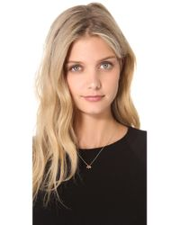 Petite Grand - Metallic 4 Drop Cluster Necklace - Lyst