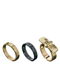ASOS - Metallic Ring Pack with Beetle for Men - Lyst