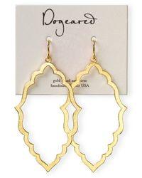 Dogeared - Metallic 14k Gold Dipped Oval Drop Earrings - Lyst