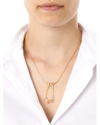 Fernando Jorge Metallic Diamond Topaz Gold Electric Necklace