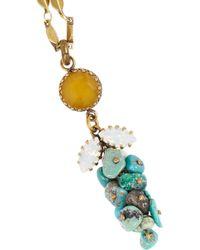 Isabel Marant | Metallic Turquoise, Jade And Swarovski Crystal Necklace | Lyst